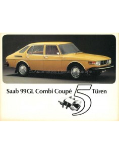 1976 SAAB 99GL COMBI COUPÉ PROSPEKT DEUTSCH