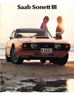 1972 SAAB SONETT BROCHURE ENGLISH (US)