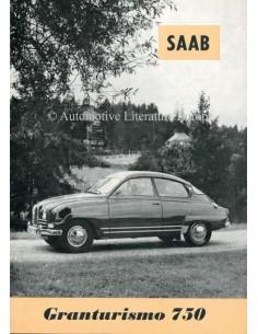 1961 SAAB 96 GRANTURISMO 750  BROCHURE ENGELS (USA)