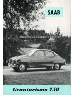 1961 SAAB 96 GRANTURISMO 750 BROCHURE SWEDISH