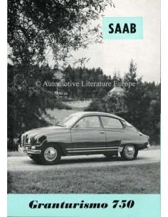 1961 SAAB 96 GRANTURISMO 750  BROCHURE ZWEEDS