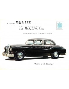 1955 DAIMLER REGENCY MARK II SALOON BROCHURE ENGLISH