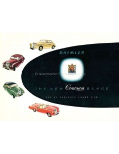 1955 DAIMLER CONQUEST RANGE BROCHURE ENGLISH