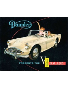1960 DAIMLER V8 SP 250 BROCHURE ENGLISH