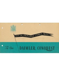 1947 DAIMLER CONQUEST BROCHURE ENGLISH