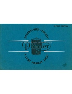 1938 DAIMLER FIFTEEN / STRAIGHT EIGHT BROCHURE ENGELS
