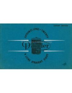 1938 DAIMLER FIFTEEN / STRAIGHT EIGHT PROSPEKT ENGLISCH