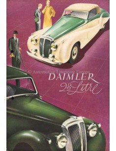 1949 DAIMLER SPECIAL SPORTS / CONSORT BROCHURE ENGLISH