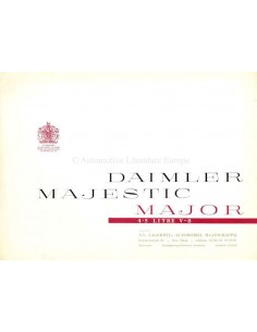 1960 DAIMLER MAJESTIC MAJOR BROCHURE ENGLISH
