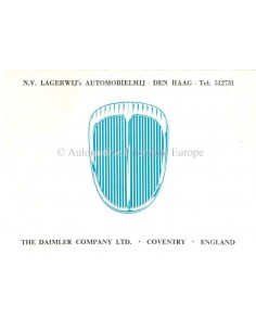 1965 DAIMLER SMALL MODEL RANGE BROCHURE ENGLISH