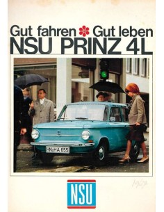 1967 NSU PRINZ 4L BROCHURE GERMAN