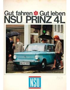 1967 NSU PRINZ 4L PROSPEKT DEUTSCH