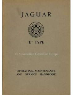 1964 JAGUAR E TYPE 3.8 BETRIEBSANLEITUNG ENGLISCH