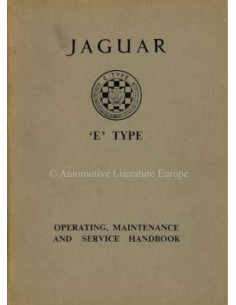 1964 JAGUAR E TYPE 3.8 OWNERS MANUAL ENGLISH