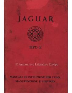 1962 JAGUAR E TYPE 3.8 BETRIEBSANLEITUNG ITALIENISCH