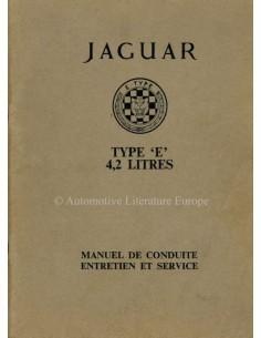 1964 JAGUAR E TYPE 4.2 BETRIEBSANLEITUNG FRANZÖSISCH