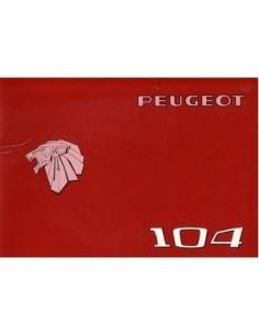 1976 PEUGEOT 104 OWNERS MANUAL
