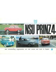 196? NSU PRINZ 4 BROCHURE DUTCH