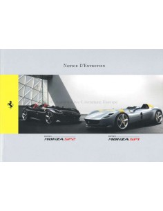 2019 FERRARI SP1 & SP2 OWNERS MANUAL FRENCH