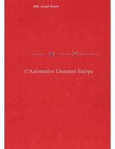 2001 FERRARI & MASERATI  JAHRESBERICHT ENGLISCH
