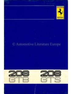1980 FERRARI 208 GTB & GTS INSTRUCTIEBOEKJE 188/80