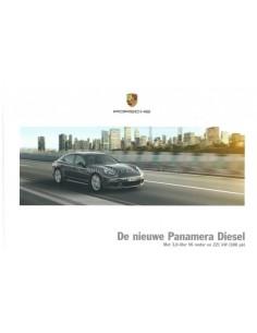 2014 PORSCHE PANAMERA DIESEL HARDCOVER BROCHURE DUTCH