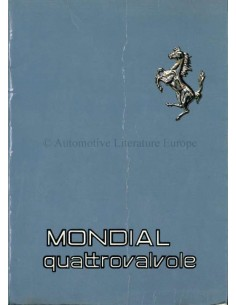 1982 FERRARI MONDIAL QUATTROVALVOLE INSTRUCTIEBOEKJE 241/82