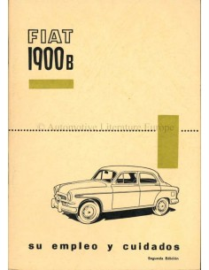 1957 FIAT 1900 B OWNERS MANUAL SPANISH