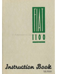 1954 FIAT 1100 OWNERS MANUAL ENGLISH