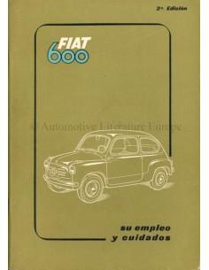 1955 FIAT 600 BETRIEBSANLEITUNG SPANISCH