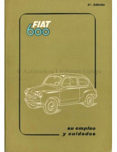 1955 FIAT 600 OWNERS MANUAL SPANISH