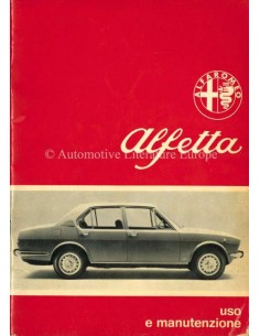 1974 ALFA ROMEO ALFETTA BETRIEBSANLEITUNG ITALIENISCH