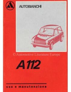 1974 AUTOBIANCHI A112 OWNERS MANUAL ITALIAN