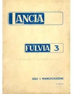 1974 LANCIA FULVIA COUPE S OWNERS MANUAL ITALIAN