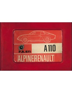 1968 ALPINE A110 1100 / 1300 / 1600 SPARE PARTS MANUAL