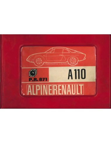 1968 ALPINE A110 1300 / 1600 SPARE PARTS MANUAL