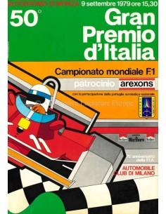 1979 50E GRAND PRIX VAN ITALIE (MONZA) OFFICIELE CATALOGUS ITALIAANS