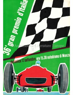 1965 36TH GRAND PRIX OF ITALY (MONZA) OFFICIAL CATALOGUE ITALIAN