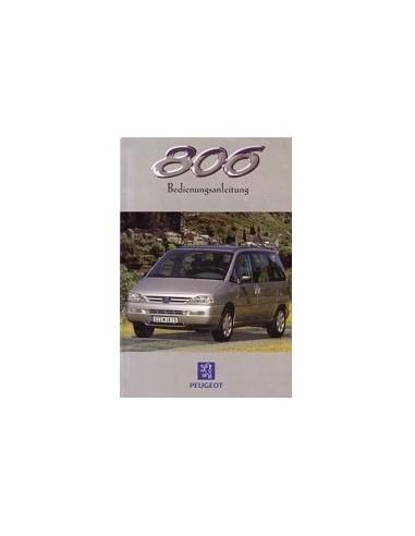 1998 PEUGEOT 806 INSTRUCTIEBOEKJE DUITS