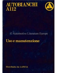 1980 AUTOBIANCHI A112 BETRIEBSANLEITUNG ITALIENISCH