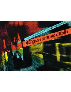 1974 45. GROßER PREIS VON ITALIEN (MONZA) OFFIZIELLER KATALOG ITALIENISCH