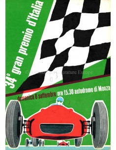 1963 33RD GRAND PRIX OF ITALY (MONZA) OFFICIAL CATALOGUE ITALIAN