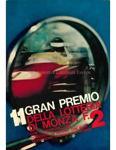 1968 GRAN PREMIO DELLA LOTTERIA DI MONZA OFFIZIELLER KATALOG ITALIENISCH