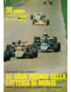 1974 GRAN PREMIO DELLA LOTTERIA DI MONZA OFFICIAL CATALOGUE ITALIAN