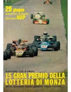 1973 GRAN PREMIO DELLA LOTTERIA DI MONZA OFFIZIELLER KATALOG ITALIENISCH