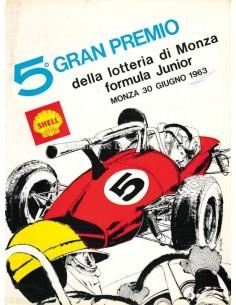 1963 GRAN PREMIO DELLA LOTTERIA DI MONZA OFFICIAL CATALOGUE ITALIAN