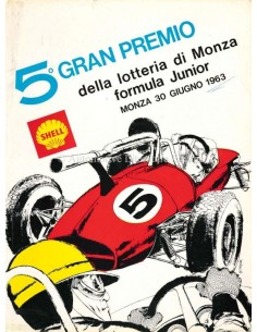 1963 GRAN PREMIO DELLA LOTTERIA DI MONZA OFFICIELE CATALOGUS ITALIAANS
