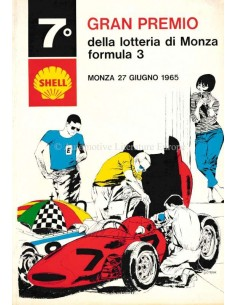 1965 GRAN PREMIO DELLA LOTTERIA DI MONZA OFFICIAL CATALOGUE ITALIAN