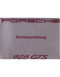 1991 PORSCHE 928 GTS INSTRUCTIEBOEKJE DUITS