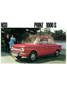 1965 NSU PRINZ 1000 S BROCHURE GERMAN
